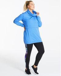 Simply Be - Zipper Pocket Hoodie With Slouch Neck - Lyst