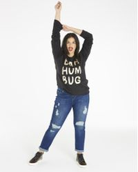 Simply Be - Oh Deer Flock Print Sweatshirt - Lyst