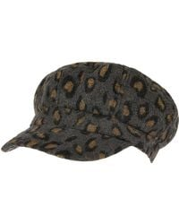 Accessorize - Leopard Brushed Bakerboy - Lyst