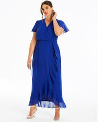 Simply Be - Lovedrobe Wrap Dress With Ruffle - Lyst