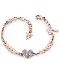 Guess - Cupid Bracelet - Rose-tone - Lyst