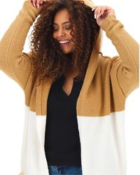 Simply Be Stripe Hooded Cardigan - Multicolour