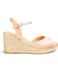 61ab439419 Simply Be Cushion Walk Wedge Sandals in Natural - Lyst