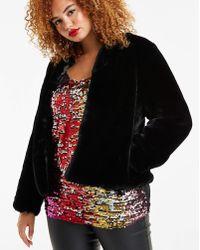 Simply Be - Short Faux Fur Coat - Lyst