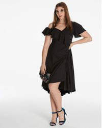 Simply Be - Asymmetric Dress - Lyst