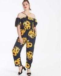 AX Paris - Curve Sunflower Jumpsuit - Lyst