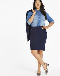 b94f45e9c3 Simply Be Tailored Maxi Pencil Skirt in Blue - Lyst