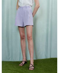 Sister Jane Ghospell Waterfall Tailored Shorts - Purple