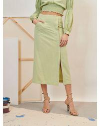 Sister Jane Ghospell Impressions Midi Skirt - Green
