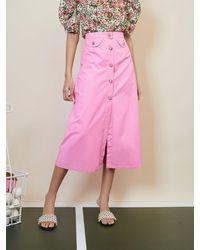 Sister Jane Set Point Midi Skirt - Pink