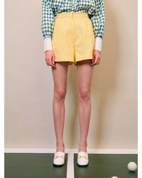 Sister Jane Dream Deuce Floral Tailored Shorts - Yellow