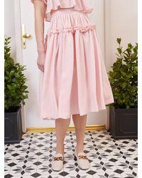 Sister Jane Simply Ruffled Midi Skirt - Pink
