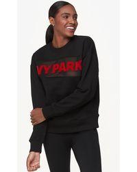 8a69794cec5 Lyst - Ivy Park Logo Sheer Mesh Hoodie in Black
