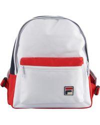 e08faa4c0c Lyst - Fila Contrast Logo Backpack in Black