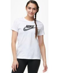 super popular 10809 dad7d Nike - Essential Icon Futura T-shirt - Lyst