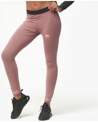 6411152d8dc31 Nike Rose Gold Metallic Air Leggings in Gray - Save 32% - Lyst