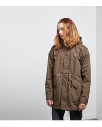 Fred Perry Fishtail Parka - Green