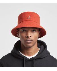 Kangol Wool Bucket Hat - Orange