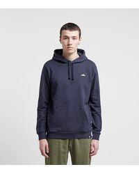adidas Originals Embroidered Overhead Hoodie - Blau
