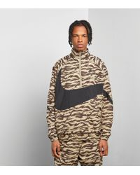 Nike - Half Zip All Over Print Woven Jacket - Lyst
