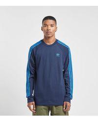 California Long Sleeve T shirt Blue