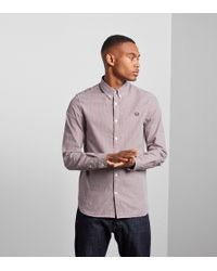 Fred Perry - Basketweave Shirt - Lyst