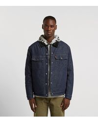 Levi's Levis Engineered Jeans Sherpa Trucker - Blau