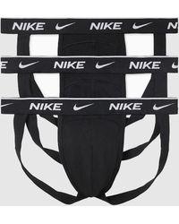 Nike Lot de 3 Jock Strap - Noir
