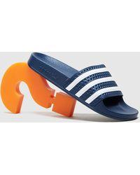 adidas Originals Sandales Adilette Femme - Bleu