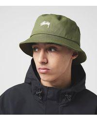 Stussy Stock Logo Bucket Hat - Verde