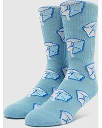 Huf Chaussettes Ice Melts Sock - Bleu