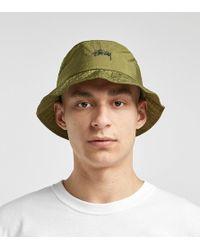 Stussy Taslan Bucket Hat - Verde