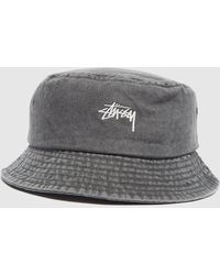 Stussy Washed Bucket Hat - Negro