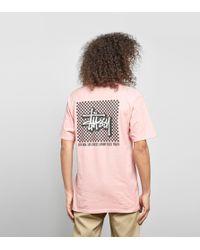 Stussy - Checker T-shirt - Lyst