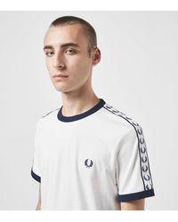 Fred Perry Camiseta Taped Retro Ringer - Blanco