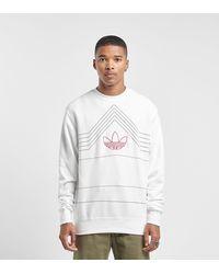 adidas Originals Sweatshirt mit Logo-Stickerei - Weiß