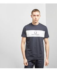 Fred Perry - Sports Authentic Embroidered Panel T-shirt - Lyst