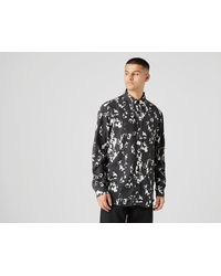 Fred Perry Chemise Monochrome Abstract - Noir