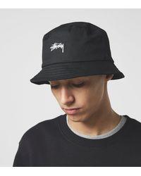 Stussy Stock Logo Bucket Hat - Negro