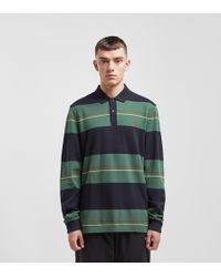 Fred Perry - Panelled Stripe Polo Shirt - Lyst