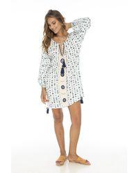 Skemo Santorini Mimi Dress - Blue