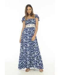 Skemo Island Vibes Long Dress - Blue