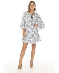 Skemo Zimbabwe Tulum Dress - Blue