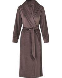Skims Velour Long Robe - Brown