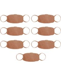 Skims Seamless Face Mask 7 Pack - Brown