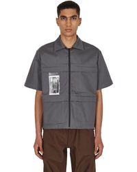 GR10K Daw Cross Shirt - Grey