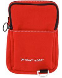 Off-White c/o Virgil Abloh Denim Hip Shoulder Bag - Red
