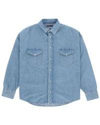 Levi's - Drop Shoulder Western Denim Shirt - Lyst