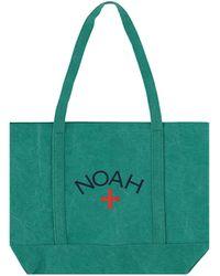 Noah Recycled Canvas Core Logo Tote Bag - Green