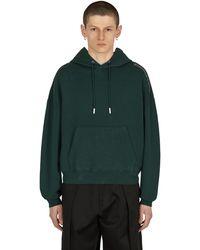 Eckhaus Latta Logo Hooded Sweatshirt - Green